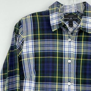 J. Crew collection perfect plaid button down shirt